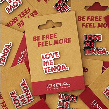 TENGA PIN BADGE Die-cut