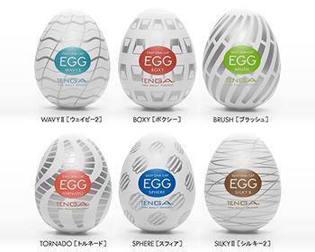 EGG生誕10周年を記念して発売された進化型EGG。ウェイビー2、ボクシー、ブラッシュ、トルネード、スフィア、シルキー2の全6種をアソートしたバラエティパックです。