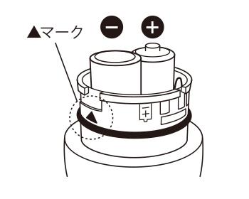 電池の+ーの向きにご注意ください。