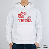 BROSMIND【LOVE ME TENGA WITH DOKUMI】Hoodie WHITE