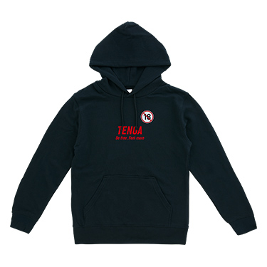 TENGA R18 【BE FREE FEEL MORE】Hoodie BLACK