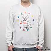 TENGA DOKUMI【Multi-Color】Sweatshirt WHITE