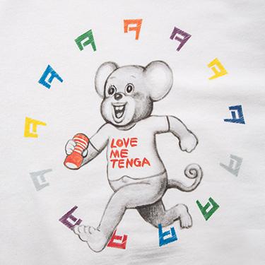 TENGA DOKUMI【Multi-Color】Sweatshirt WHITE