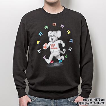TENGA DOKUMI【Multi-Color】Sweatshirt BLACK