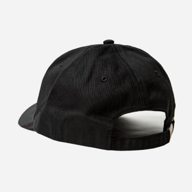ワンポイント刺繍キャップ 黒