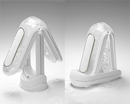 フリップスタイルで充電しながら乾燥可能。簡易的にも乾燥できてさらに便利に。