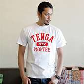 TENGAmontee COLLEGE-TEE WhiteRed
