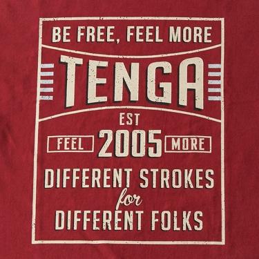 TENGA VINTAGEサインプレートTee【WINE】