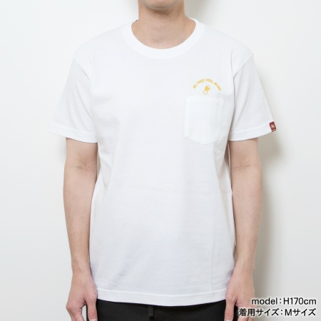montee BE FREE FEEL MORE Tシャツ【WHITE】