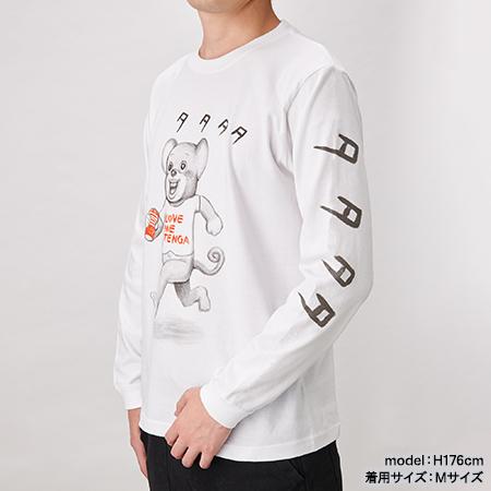 TENGA DOKUMI【TATATATA】Long Sleeve Tee WHITE