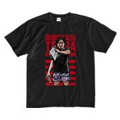 SHINUKASU×TENGA  Tシャツ BLACK