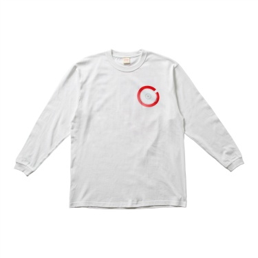 TOC101 Printed Long Sleeve Tee WHITE×RED