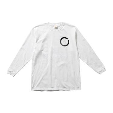 TOC101 Printed Long Sleeve Tee WHITE×BLACK