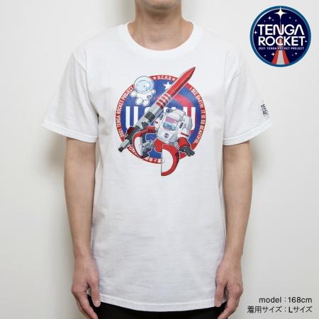 【TENGA ROCKETセット】SPACE TENGA ロボ Tシャツ ホワイト