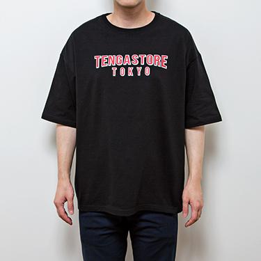TENGA STORE TOKYO Logo Tee Black×Red