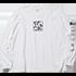 スクエアロゴ長袖Tシャツ ホワイト
