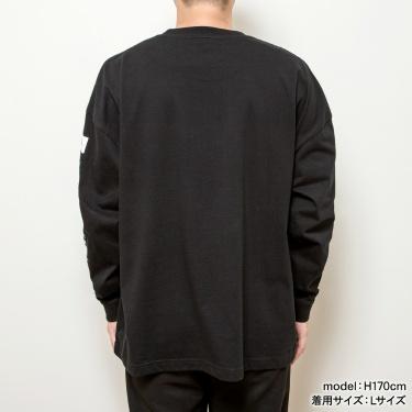 スクエアロゴ長袖Tシャツ ブラック