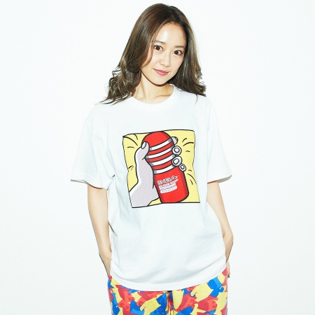 Playing with TENGA Tシャツ 白×黄