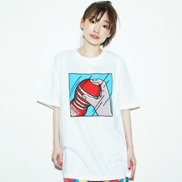 Playing with TENGA Tシャツ 白×青
