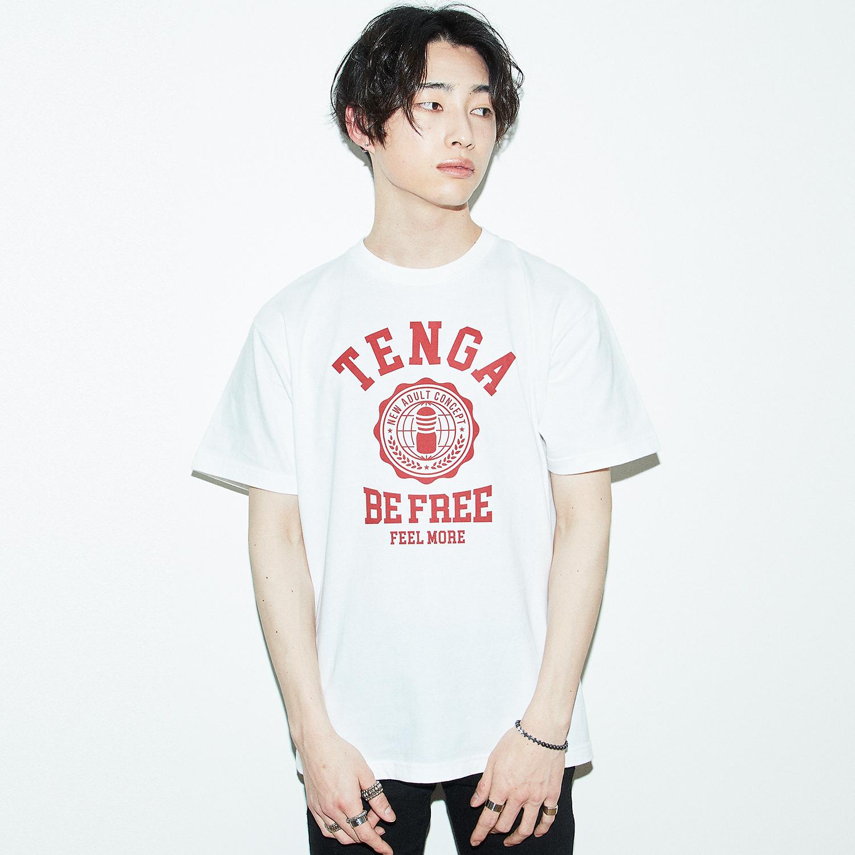 TENGA カレッジ Tシャツ 白