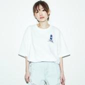 TENGA サンセット Tシャツ 白×紺