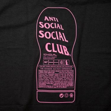 TENGA×ANTI SOCIAL SOCIAL CLUB COLLABORATION Tee BLACK×PINK