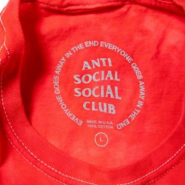 TENGA×ANTI SOCIAL SOCIAL CLUB COLLABORATION Tee RED TIE DYE