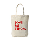 LOVE ME TENGA ヴィンテージ風 トートバッグ