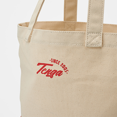 TENGA ORIGINAL TOTE BAG WHITE×RED