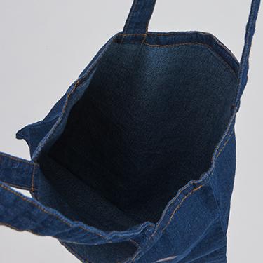 BROSMIND【DOKUMI】Denim Tote bag WASHED BLUE