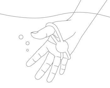 防水仕様(水深50cmまで)です。<br>※イラストはハンドボールです