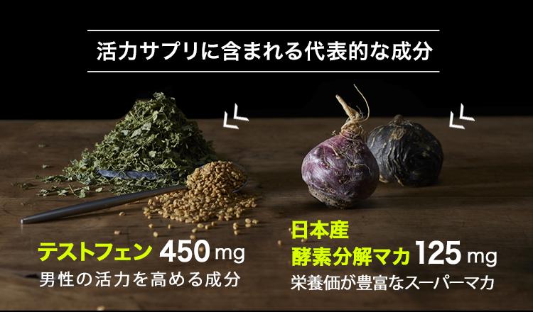 テストフェン×日本産酵素分解マカ 高度配合!