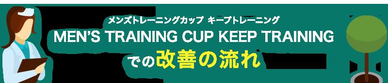 MEN'S TRAINING CUP KEEP TRAININGは早漏治療に使うことのできるツールです。