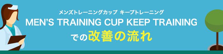 メンズトレーニングカップ キープトレーニングMEN'S TRAINING CUP KEEP TRAININGでの改善の流れ